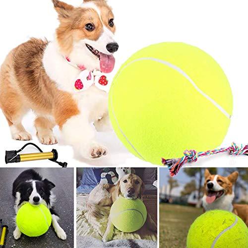 24cm Pallone da Tennis Gigante per Cane, Gigante Tennis Ball per Cane Giocattolo all' Aperto, Sfera dell'animale Domestico