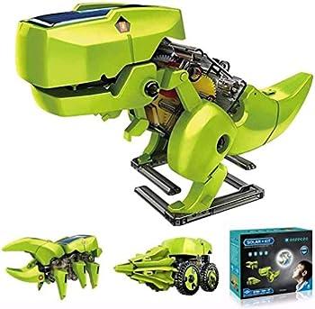 Asppopo 3 in 1 DIY Building Dinosaurs Toy Kids Science Kit