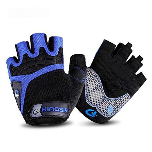 Miwaimao - Guantes de ciclismo con dedos cortos y guantes de verano...