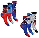 6 Paar Spiderman Jungen Socken Marvel Kinder Strümpfe 27-30