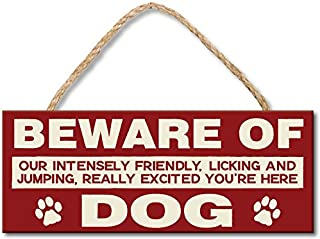 My Word! Beware of Dog - 4x10 Hanging Wooden Sign