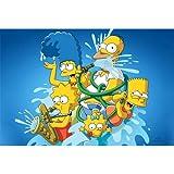 Rompecabezas De Madera Simpsons 300500 1000 1500 Piezas De Dibujos Animados Anime Lindo Adulto Descompresión Juguete Educativo para Niños Regalo(Color:Segundo,Size:1500pc)