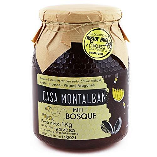 Miel de abeja pura Bosque Hecha en España 100{92c41698ddd332d306592f03c340d71154fef3b6b26cab425bc5e2eb73c08448} Natural, Miel cruda sin calentar sin aditivos directo de Apicultor- 1 Kg