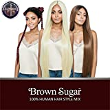 ISIS Human Hair Blend Lace Front Wig Brown Sugar Versatile Lace Wig BSX04 Straight 40' (SR1BBUG)