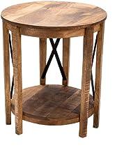 "Crestview Collection CVFNR870 25"" Black Metal Cross END Table Furniture"