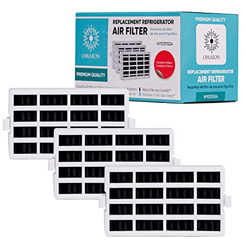 W10311524 Fresh Flow Air Filter For Whirlpool Refrigerator 2319308,...