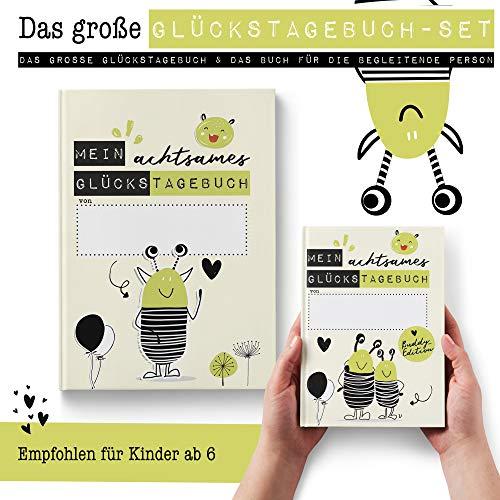 Das große Glückstagebuch-Set für 2 (Kinder und begleitende Person als Tagebuch-Partner) Dankbarkeit, Achtsamkeit und innere Stärke - Rundfux