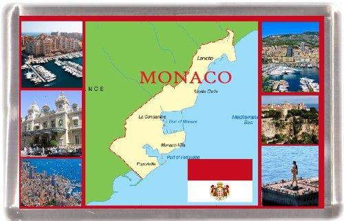 Monaco map Gift Souvenir Fridge Magnet