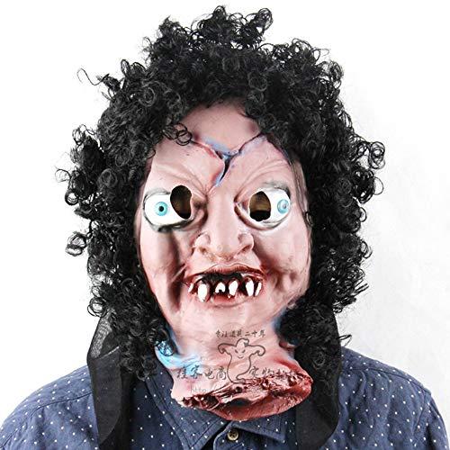 Masker Halloween Enge Latex Creepy Masker en Haar Maskerade Party Ball Prom Mardi Gras Bruiloft Wanddecoratie Cosplay Halloween Bar Monster Masker