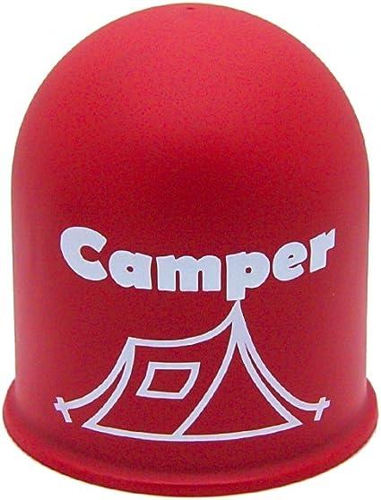 Schutzkappe Anhängerkupplung Blickfang Campingplatz Glamping Zelt Tent Rot Auto