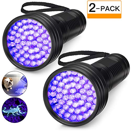 2-Pack UV Flashlight Black Light, 51 LED 395 nm Blacklight Perfect...