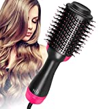 RVB Beauty One Step Hair Dryer and Volumizer Multifunctional Oval Blower Hot Air Paddle Styling Brush Negative Ion Generator Hair Straightener Curler Comb for All Hair Types