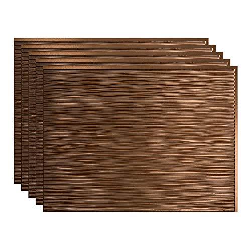 FASÄDE Ripple Decorative Vinyl 18in x 24in Backsplash Panel in Oil-Rubbed Bronze (5 Pack)
