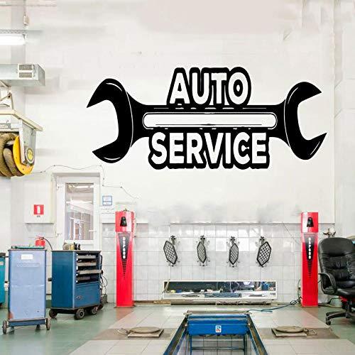 zqyjhkou Petit Pain d' Autocollant de Vinyle de Service de réparation Automatique de Voiture de Logo, pneus, réparation, Voiture Cs21 98x42cm imperméable de fenêtre de Magasin de Studio