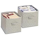 mDesign boîte de rangement tissu (lot de 2) avec poignées – boite rangement...