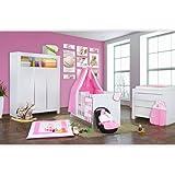 Babyzimmer Felix in weiss 19 tlg. mit 3 türigem Kl von Zauber Fee in rosa