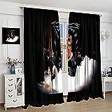 VICWOWONE Cortina para ventana de habitación de niños, con aislamiento térmico, para dormitorio y apartamentos, 132 x 213 cm