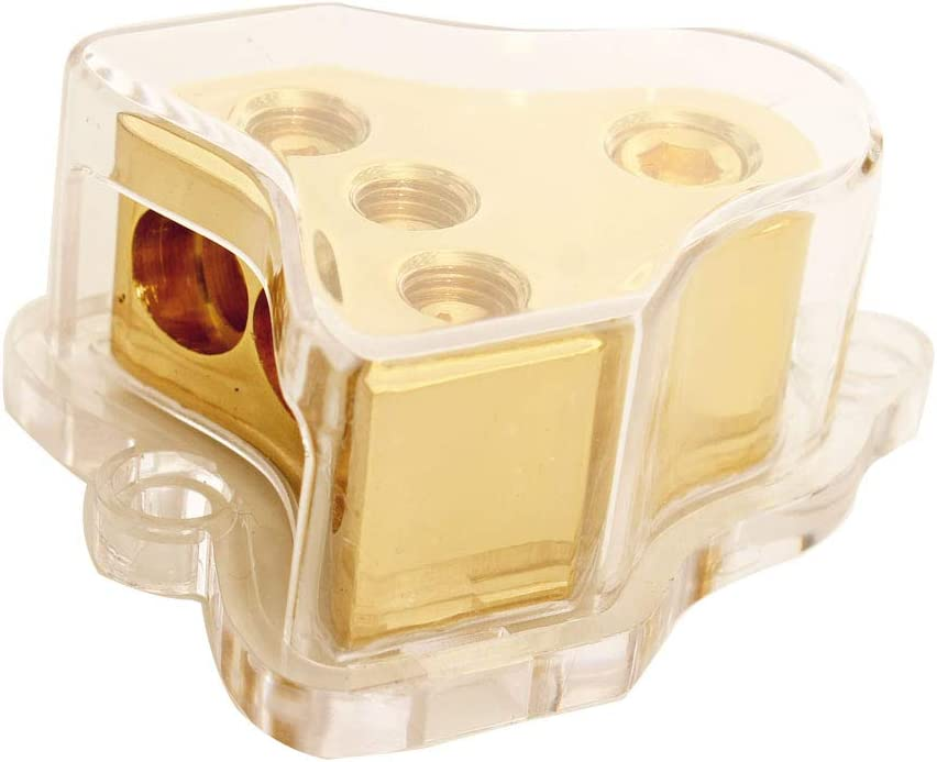 Amp Max 77% OFF Copper Max 49% OFF Audio Power Distribution Block 1 Gauge AWG 0 in 2 4