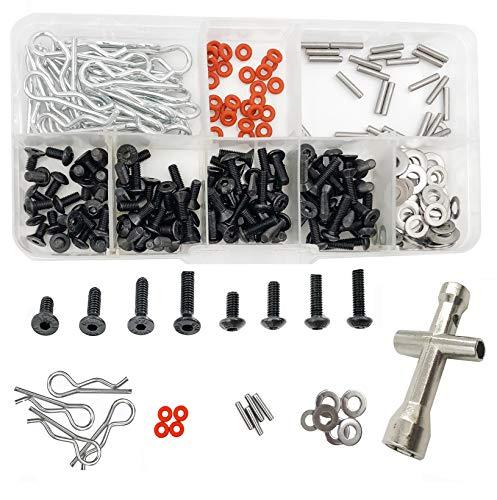 270 PCS RC Screws Kit Repair Tool Hardware Fasteners Box for 1:8 1:10 HSP RC Car