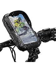 自転車 スマホホルダー ロードバイク スタンド 防水 収納可能 iPhoneスマホホルダー防水 遮光 耐震 360度回転 バイク用スマホホルダーiPhone Android 多機種 画面6.0インチまでのスマホに対応 防水バッグ バイク スクーター ホルダー 日本語説明書付き
