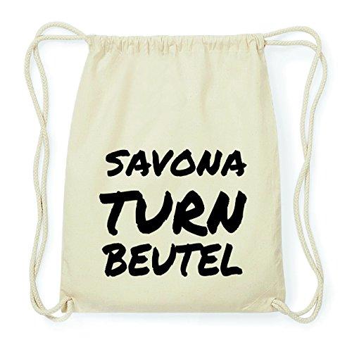 JOllify Savona Hipster Turnbeutel Tasche Rucksack aus Baumwolle - Farbe: Natur – Design: Turnbeutel - Farbe: Natur