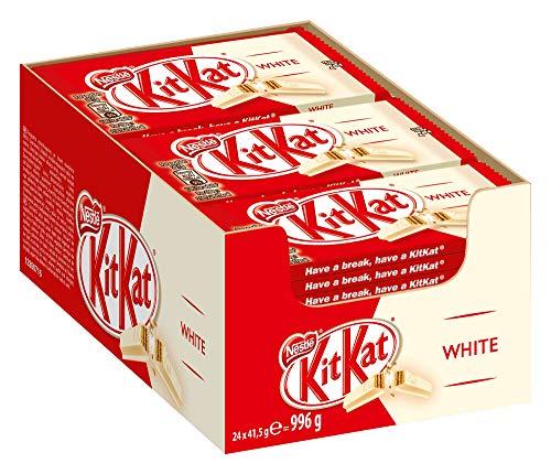 Nestlé KitKat White knuspriger Schokoriegel, mit weißer Schokolade, Multi-Pack für Naschkatzen, 24er Pack (24 x 41,5g)