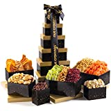 Fresh Nut & Dried Fruit Gift Basket Assortment, Black Tower (12 Mix) - Variety Care Packag...