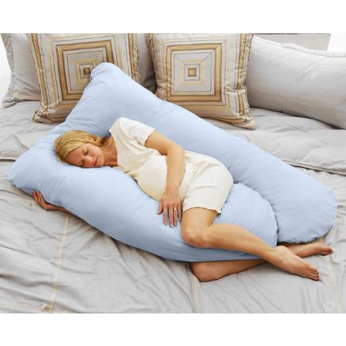 Cozy Comfort Pregnancy Pillow - Sky Blue
