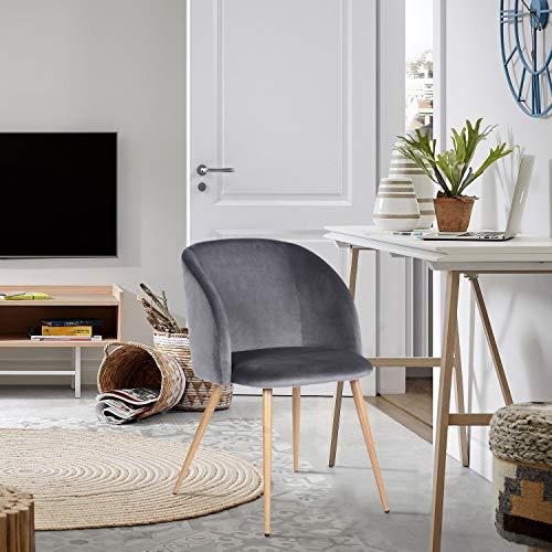FurnitureR Juego de 2 sillas de Comedor para Cocina, sillas Laterales Modernas de Mediados de Siglo,…