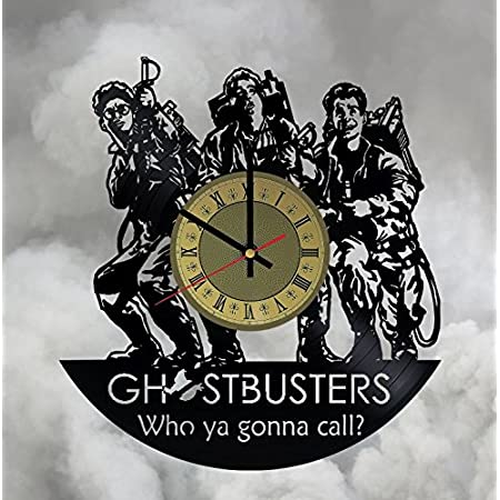Ghostbusters Vinyl Record Wall Clock Gift Ideas Boys And Girls Get Unique Room Wall Decor Interior Decor Unique Modern Art Design Home Decor Surclima Handmade Products