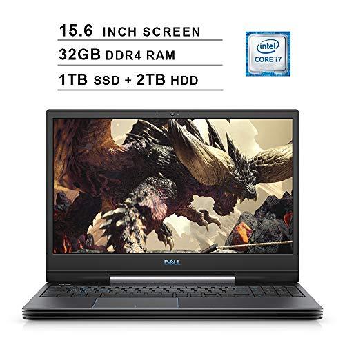2020 Dell G5 15 5590 15.6 Inch FHD Gaming Laptop (9th Gen Intel 6-Core i7-9750H up to 4.5 GHz, 32GB RAM, 1TB SSD + 2TB HDD, NVIDIA GeForce RTX 2060, Bluetooth, WiFi, HDMI, Windows 10) (Black)