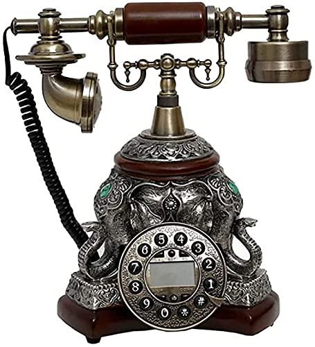 Teléfono fijo retro europeo clásico La apariencia pesada del teléfono antiguo es bastante popular entre las personas modernas que están en busca de la moda y el clasicismo.Es el tema del hogar atempor