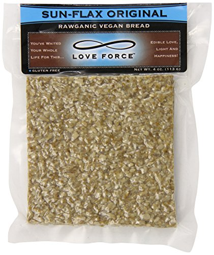 Love Force Rawganic Vegan Bread, Sun Flax Original, 4 Ounce