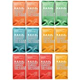 R.E.D.D. Vegan Protein Bar, Variety Pack, 12 Bars, Healthy Snack with 10g Plant-Based Protein, Low Sugar, Gluten-Free, Dairy-Free, High Fiber, Probiotics