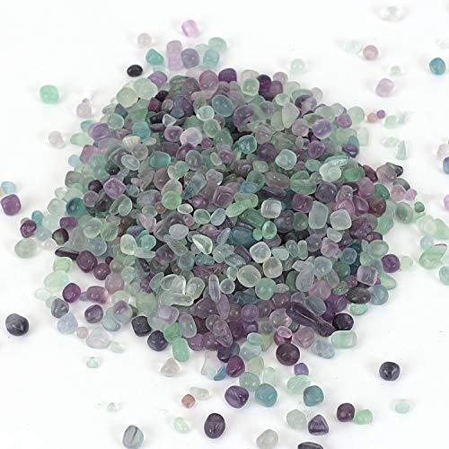 Shiny Stone Pierre de guérison Reiki polie pour aquarium, plantes grasses, décoration de jardin (fluorite, 5-7 mm)