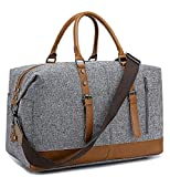 BLUBOON Weekender Overnight Bag for Women Travel Tote Carry-on Duffel Bags with Shoe Compartment and Shoulder Strap (836-X Grey)