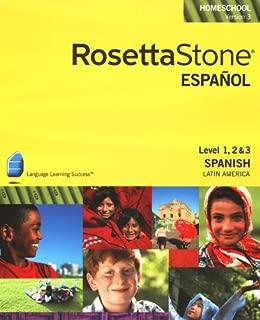 Rosetta Stone Spanish (Spain) Level 1,2 & 3 Set with Audio Companion Homeschool Edition, Version 3