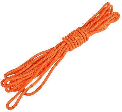 LXYFMS Ligne de Vie diamètre 1CM14 Corde à Eau Professionnelle Suspendue Boucle Orange Corde d'alpinisme (Taille   20m)