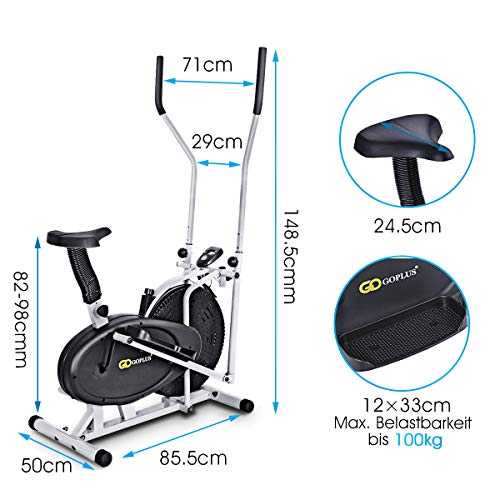 Fahrrad Heimtrainer 2 in 1 Crosstrainer Bild 3*