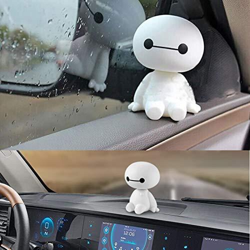 Plástico De Dibujos Animados Baymax Robot Sacudiendo La Cabeza Figura Adornos Para Automóviles Auto Decoraciones Interiores Big Hero Toys Ornament Car-Styling # 2