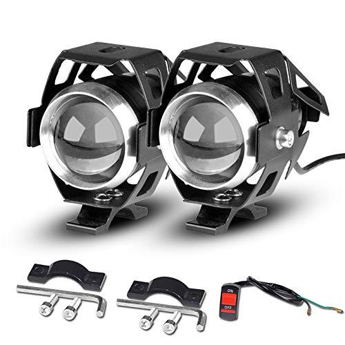 QOHFLD Fahren Universal U5 LED Motorrad Scheinwerfer Zusatzlampe Motorrad Scheinwerfer Zubehör Street Moto Nebelscheinwerfer