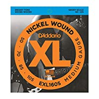 DADDARIO (ダダリオ) ベース弦 EXL160S Nickel Wound Bass Light 50-105 Short