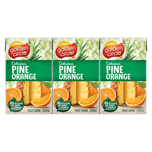 Golden Circle Pineapple and Orange Fruit Drink, 6 x 250ml