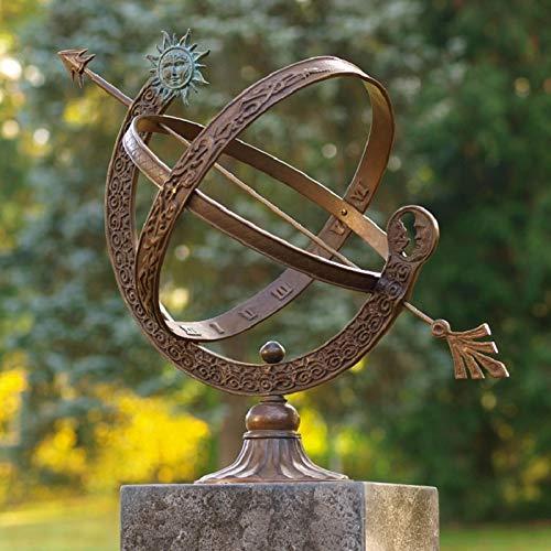 IDYL Outdoor Zeitmesser aus Bronze Sonnenuhr - hochwertig und auffällig | Nr. 0471 | Maße: 48 x 30 x 30 cm