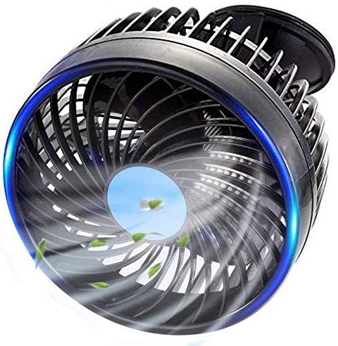 SJNSJN Ventilador de Coche, Mini Ajustable Ventilador Eléctrico 180° Rotación Portatil con...