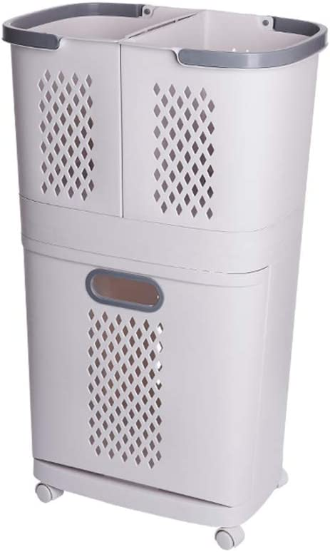NNDQ Removable Laundry Deluxe Basket Max 66% OFF Classification Large Bathroom She
