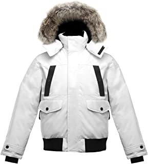 Triple F.A.T. Goose SAGA Collection | Norden Mens Hooded Goose Down Jacket Parka with Real Coyote Fur