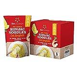 (Pack of 6) DIET COOKER Premium Konjac Noodles, Shirataki Noodle, Keto & Vegan Friendly, 9.52 oz, Odor Free, Pasta Weight loss, Low Calorie, Zero Net Carbs, Healthy Diet Food - Oat Spaghetti