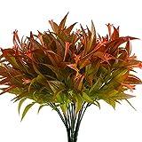 NAHUAA 4pcs Artificial Outdoor Plants Fake Flower Plants Artificial Morning Glory Shrubs Bundles
