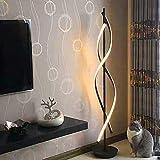 Negro Espiral Lámparas de Pie -ELINKUME Regulable LED Lámpara de Iluminación Interior 30W Regulable LED Ahorro de Energia Lámpara de la Sala Material de Hierro AC 220V